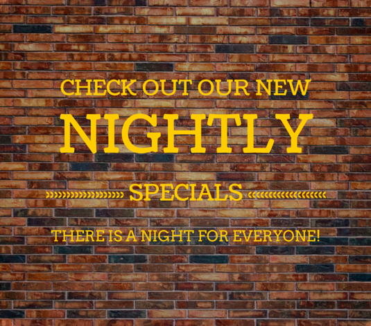 New Nightly Specials!